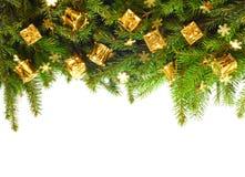 Albero di Natale con la decorazione Fotografia Stock Libera da Diritti