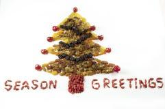 Albero di Natale con le bacche Immagini Stock