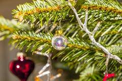 Albero di Natale con le candele Fotografia Stock