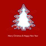 Albero di Natale con le graffette Immagine Stock Libera da Diritti