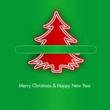 Albero di Natale con le graffette Fotografie Stock Libere da Diritti
