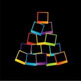 Albero di Natale con le polaroid Immagine Stock Libera da Diritti