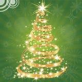 Albero di Natale con le stelle. Immagine Stock