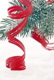 Albero di Natale con neve Fotografia Stock