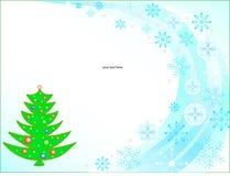 Albero di Natale con testo Fotografia Stock