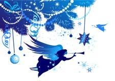 Albero di Natale con un angelo Fotografia Stock Libera da Diritti