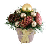 Albero di Natale con un pinecone Fotografia Stock