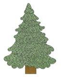 Albero di Natale cucito Fotografia Stock Libera da Diritti