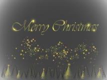 Albero di Natale d'ardore Immagini Stock Libere da Diritti