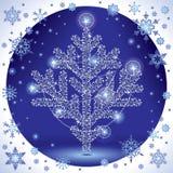 Albero di Natale d'argento Fotografie Stock Libere da Diritti