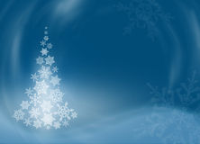 Albero di Natale dai bei fiocchi di neve Fotografia Stock
