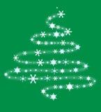 Albero di Natale dai fiocchi di neve Fotografie Stock Libere da Diritti
