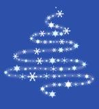 Albero di Natale dai fiocchi di neve illustrazione di stock