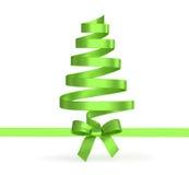 Albero di Natale dai nastri isolati Fotografia Stock Libera da Diritti