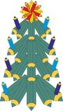 Albero di Natale dai pastelli colorati illustrazione vettoriale