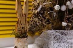 Albero di Natale dalla corda Fotografie Stock Libere da Diritti