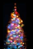 Albero di Natale dalle luci Immagine Stock