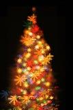 Albero di Natale dalle luci Fotografia Stock Libera da Diritti