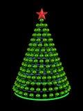 Albero di Natale dalle sfere verdi dello specchio Fotografia Stock