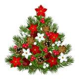 Albero di Natale decorativo. Immagini Stock Libere da Diritti
