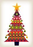 Albero di Natale decorativo Fotografie Stock Libere da Diritti