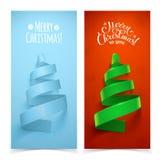 Albero di Natale decorativo del nastro Fotografia Stock