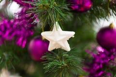 Albero di Natale decorato Fotografie Stock Libere da Diritti