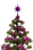 Albero di Natale decorato Fotografia Stock Libera da Diritti