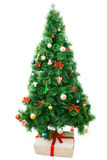 Albero di Natale decorato Fotografia Stock