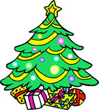 Albero di Natale decorato Immagine Stock