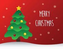 Albero di Natale decorato con il testo di Buon Natale royalty illustrazione gratis
