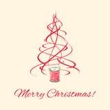 Albero di Natale, decorazione di natale del filo Fotografie Stock