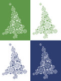 Albero di Natale dei cotoni Fotografia Stock