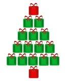 Albero di Natale dei presente Fotografia Stock Libera da Diritti