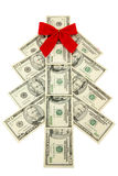 Albero di Natale dei soldi Fotografie Stock Libere da Diritti