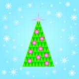 Albero di Natale dei triangoli Immagini Stock Libere da Diritti