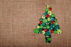 Albero di Natale del bottone Fotografia Stock