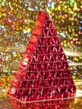 Albero di Natale del cioccolato Fotografia Stock