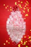 Albero di Natale del cubo di ghiaccio Fotografia Stock
