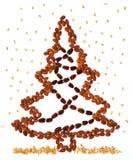 Albero di Natale del dado Fotografia Stock