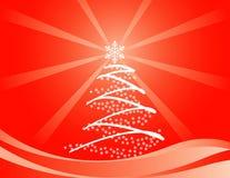 Albero di Natale del fiocco di neve Fotografia Stock Libera da Diritti