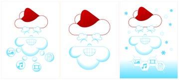 Albero di Natale del formaggio con due topi Illustrazione di Stock