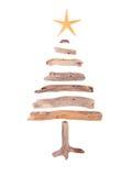 Albero di Natale del legname galleggiante Fotografia Stock Libera da Diritti