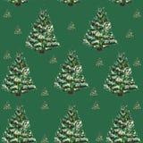 Albero di Natale del modello Immagini Stock