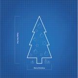 Albero di Natale del modello di vettore. Fotografie Stock