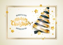 Albero di Natale del nastro Immagini Stock Libere da Diritti