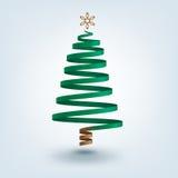 Albero di Natale del nastro Fotografie Stock Libere da Diritti