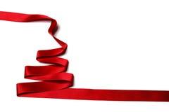 Albero di Natale del nastro Immagini Stock