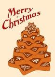 Albero di Natale del pan di zenzero Fotografia Stock