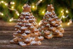 Albero di Natale del pan di zenzero Fotografia Stock Libera da Diritti